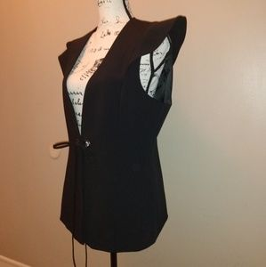 BCBGMaxAzria Black Grommet Vest